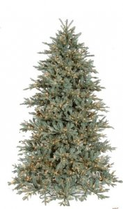 "C-100141 7.5' Frost Mini Fir Tree 800 Clear Lights 54"" Width"