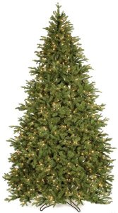 7.5' Kelso Pine Christmas Tree - Full Size - 700 Clear Lights - Wire Stand