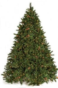 "C-100071 7.5' Vienna Mixed Pine Tree 900 Clear Lights 66"" Wide"