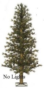 "C-60790 48"" Butte Pine Tree - 271 Iced Green Tips - 36"" Width - Metal Base ***NO LIGHTS***"