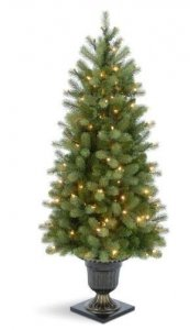 EF-30850 5' Douglas Pine Fir PE/PVC Feel Real Material with Lights and URN as Shown