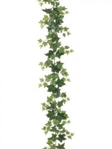 EF-061 6' Ivy Garland w/127 Lvs.  Green (Sold in a 6pc Set)