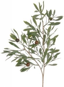 "EF-138K 21"" long 3 Olives, 176–Poly White Wash Leaves. Mixed Green (Sold in a per DZ Set)"