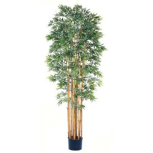 EF-1866 7' Bamboo Japanica Tree with 12 Natural Trunks w/4080 Lvs