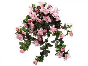 "EF-942   29"" Water-Resistant Azalea Hanging Bush x10 PINK (Price is for a 6pc set)"