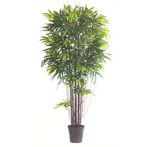 EF-6513 7' Black Bamboo Tree Natural Trunks 2,145 LVS