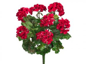 "EF-922 19"" Water-Resistant Geranium Bush  RED (Price is for a set of 6 pc)"