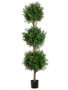 EF-115 5' Rain Locust EF-115A Triple Ball Topiary Green (Price is for Two PC Set)