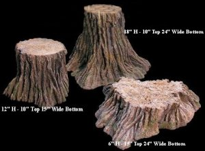 EF-1210 3 Pc Foam Tree Stump Set  (See Details for Sizes)