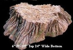 "EF-0615 Foam Tree Stump 6"" Tall 15"" Top 24"" Wide Bottom"