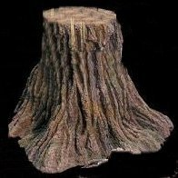 "EF-2518 Foam Tree Stump 18"" Tall 10"" Top 24"" Wide Bottom"