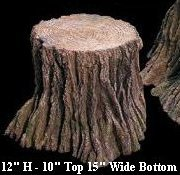 "EF-2519 Foam Tree Stump 12"" Tall 10"" Top 15"" Wide Bottom"