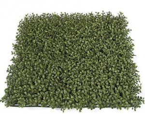 "AUR-110200 20"" Plastic Boxwood Mat Tutone Green Fire Retardant and also UV Protected 3"" High (Sold in a 3 pc set)"