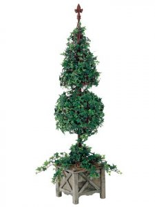 "EF-005 	64"" Cone/Ball-Shaped Star Ivy w/2192 Lvs. in Wooden Pot"