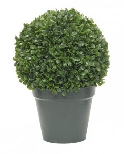 "EF-3395 10"" Tall Leucodendron Boxwood Ball Topiary 8"" Wide"
