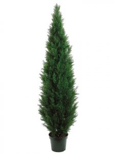 EF-017 	7' Cedar Topiary x3610 w/Pot (Knockdown Packing) Green (Indoor/Outdoor)