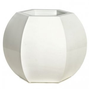 "D-90041  23.5"" x 20.5"" x 19.5"" Large Hexagon Planter Gloss White"
