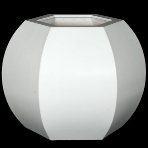 "D-90040 23.5"" x 20.5"" x 19.5"" Large Hexagon Planter Matte White"