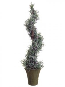 "EF-540 38"" Italian Rosemary Spiral Topiary in Paper Mache Pot Green"