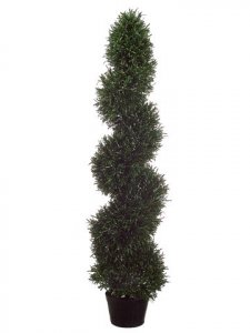 EF-484  4' Rosemary Spiral Topiary in Plastic Pot Green (Price is for a 2 PC Set)