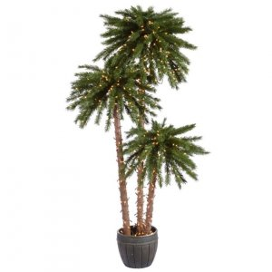 EF-112871 4-5-6' Potted Palm Trees 500 Clear Lights