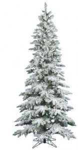 "EFV-8950   7.5' x 43"" Wide Medium Flocked Utica Tree 400 LED Warm White Lights"