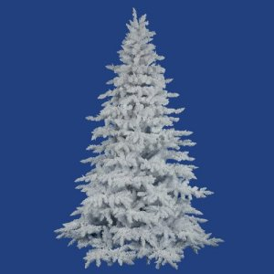 "EF-8936 7.5' x 65"" Flocked White Spruce 1650Tips"