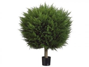 "EF-274 36"" Ball-Shaped Pine Topiary w/1551 Lvs. in Pot Green Indoor/Outdoor"