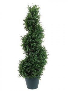 EF-403  	3' Rosemary Spiral Topiary w/952 Lvs. in Plastic Pot Green Indoor/Outdoor