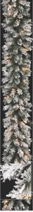 "C-90141 9' Flocked Mountian Pine 50 Clear Lights 12"" Wide"
