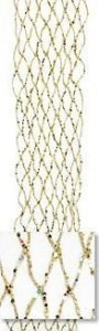 "90"" Plastic Glittered Ribbon Garland - Flexible - Gold"
