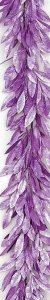 6' Plastic Glittered Bay Leaf Garland - 48 Light Purple Leaves