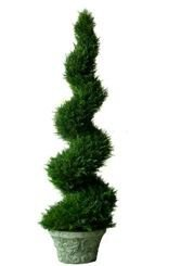 6' Outdoor Spiral Cypress UV Resistant Topiary