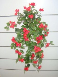 "EF-2504  Hanging Bougainvillea -Red -30"" length"