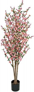 W-110005  5' Cherry  Blossom Tree Natural Trunks Pink