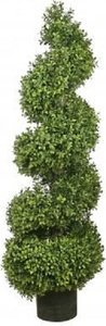 "EF-42 4' Outdoor Spiral Boxwood Topiary 14"" THICK,  indoor/outdoor"