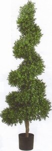 "ef-44 6' Outdoor Spiral Boxwood Topiary 20"" Thick"