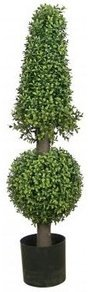 EF-46 3' Outdoor Boxwood Ball and Cone Topiary