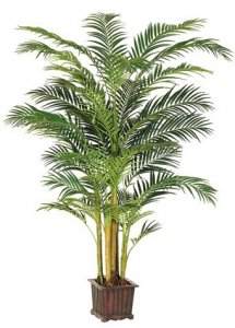 EF-109  9' Areca Palm Tree in Wood Container Green(Price is for a 2pc set)
