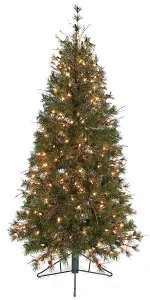 5' Mixed Needle Pine Christmas Tree with Cones/Twigs - 250 Clear Lights