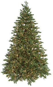 C-131264/74  7.5'Tall or  9' Tall  Norway Spruce Slim Artificial Christmas Tree PVC/Plastic Green Tips Warm White LED Lights with Stand