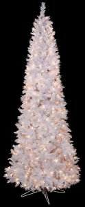 "C-120401 7.5' Blanca Pencil Pine Tree - 400 Clear Lights - 33"" Width"