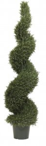 EF-3331  5' Rosemary Leaf Spiral Tree  2184 leaves Indoor/Outdoor