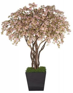 8' Cherry Blossom Tree - Natural Wood Trunks - 6,174 Pink Flowers