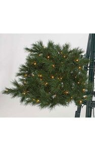 Commercial Pine Christmas Tree Branch - 278 Tips - 100 Warm White LED Lights