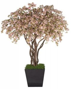 Cherry Blossom Tree - Natural Wood Trunks - 6,174 Cream Flowers