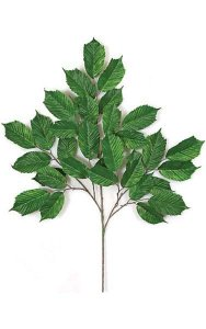 "29"" Elm Branch - 33 Leaves - Green - FIRE RETARDANT"