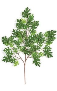 "38"" Pin Oak Branch - 55 Leaves - Green - FIRE RETARDANT"