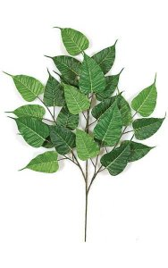 "31"" Bo Ficus Branch - 24 Leaves - Green - FIRE RETARDANT"
