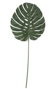 "37"" Single Split Leaf Philodendron - Green - Fire Retardant"